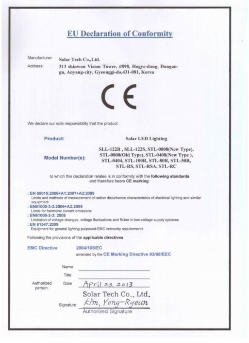 CE marking(EU)
